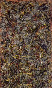 """No. 5, 1948"" by Jackson Pollock. Should be public domain PD56.  Realistic complexity."