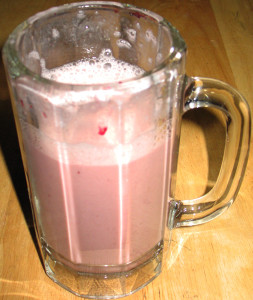 Cherries and almond milk