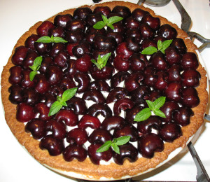 Wife food, cherry tart