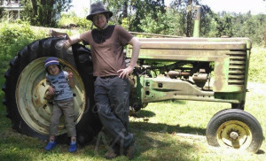 Hats and a tractor