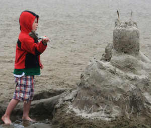 Sandcastle intensely fortifided