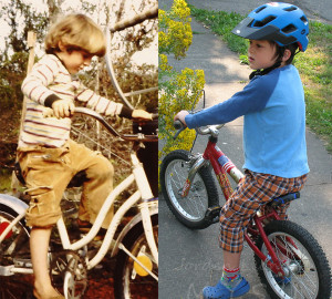 Bicycle, father and son