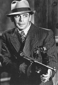 Paul Muni in Scarface 1932, public domain