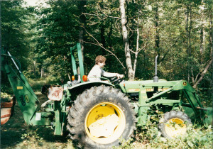 Siting on that tractor was like being an executive director.
