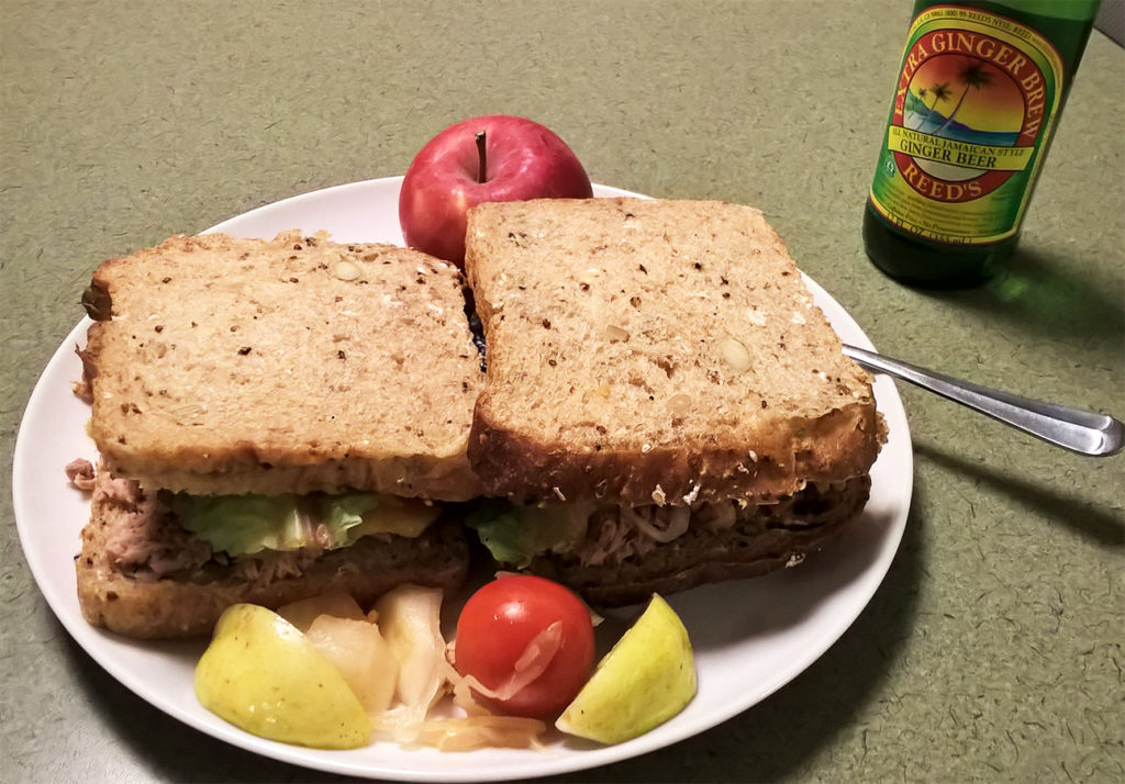 Double tuna sandwich with Reaper Pepper