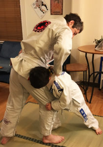 Jiu-Jitsu with my son, Yuri