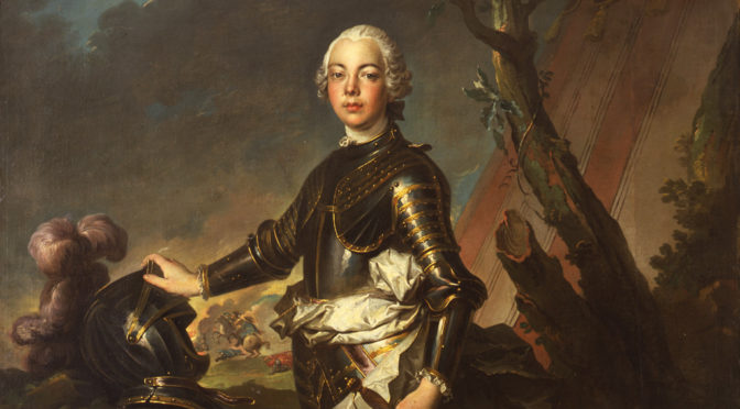 Louis Tocqué, Portrait of a Young Man in Armor, ca. 1745-1750, oil on canvas