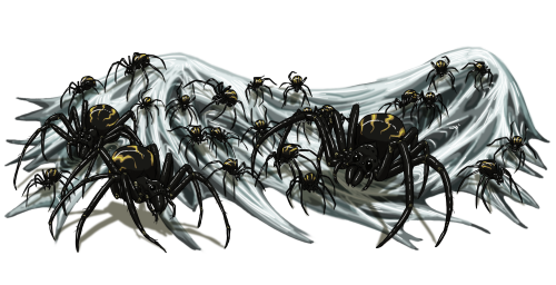 Spider vermin swarm, by Jacob Blackmon (ProdigyDuck), used with permission