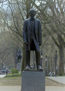One of many statues of a great man.